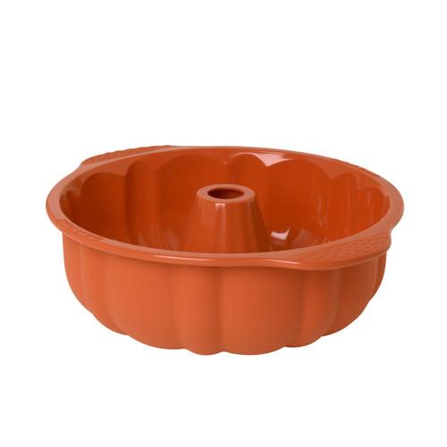 Baker's Secret 1064939 Flexible Silicone Fluted Tube Pan