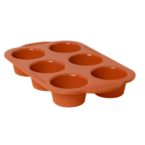 Baker's Secret 1064942 Flexible Silicone 6-cup Muffin Pan
