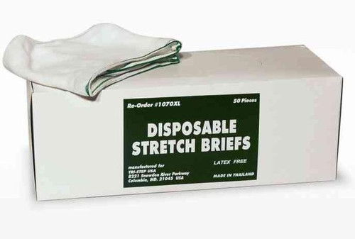 Disposable Mesh Briefs Underwear X-LARGE Dispenser Box/50