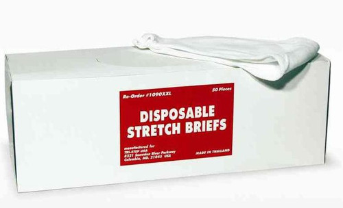 Disposable Mesh Briefs Underwear XX-LARGE Dispenser Box/50