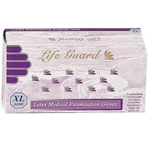 Latex Exam Gloves: Box/100 X-SMALL