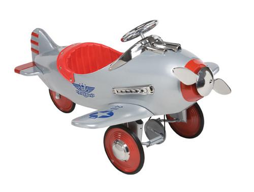 Silver Pursuit Plane