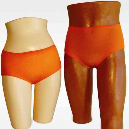 400 Disposable Stretch Mesh Underwear (Briefs) LARGE/ORANGE