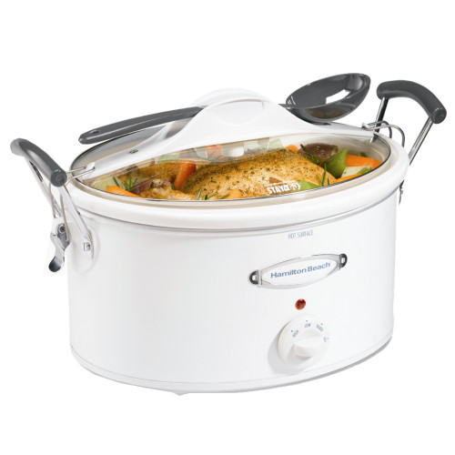 Hamilton Beach 33163 Stay or Go 6-Quart Portable Slow Cooker