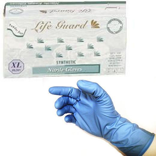 Powder-Free Thick Nitrile Gloves: 500 XX-LARGE