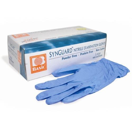 Powder-Free Nitrile Exam Gloves SMALL/BLUE Box/100