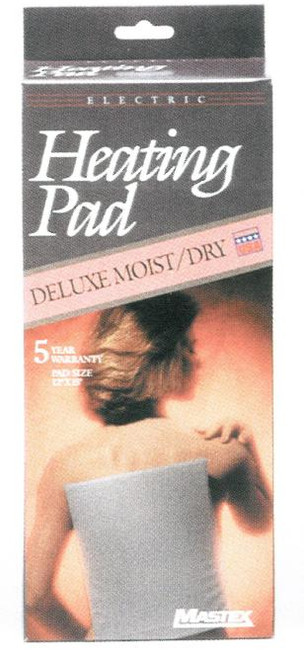 """Deluxe Moist/Dry Electric Heating Pad 12""""x15"""""""