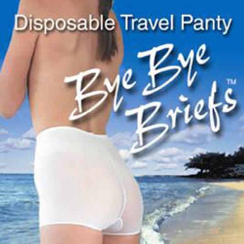 Bye Bye Briefs Disposable Stretch Undergarment 3-Pack: Small/Medium