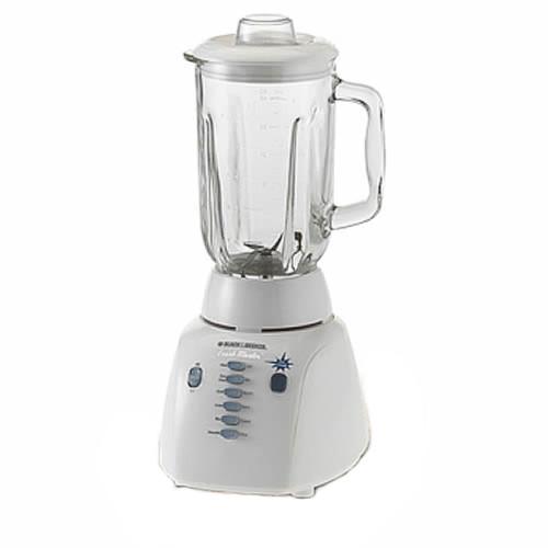 Black & Decker BL10450G Crush Master 10-Speed Glass Jar Blender, White