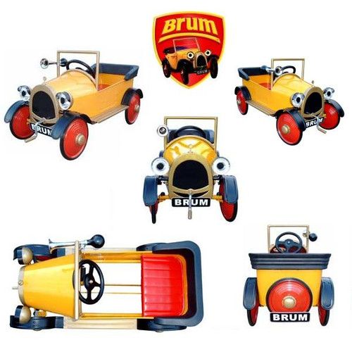 Brum Pedal Car + Free Optional Horn Included