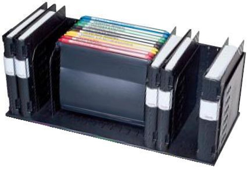 Axcess Documate Organizer: 6 Vertical Compartments Plus Hanging Files  - Black