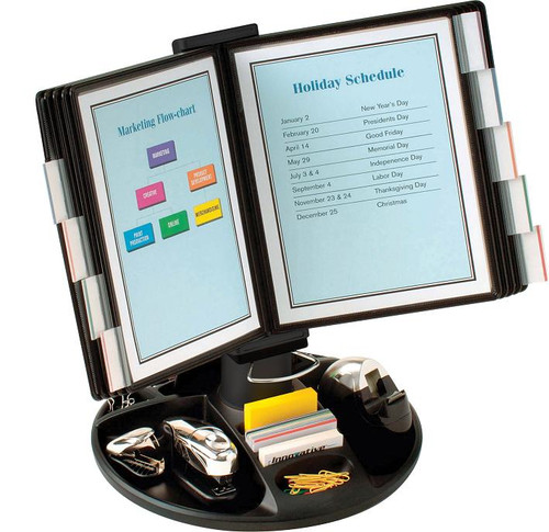 Executive Rotary Base Organizer with 10 display panels