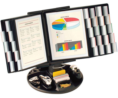 Executive Rotary Base Organizer with 30 display panels