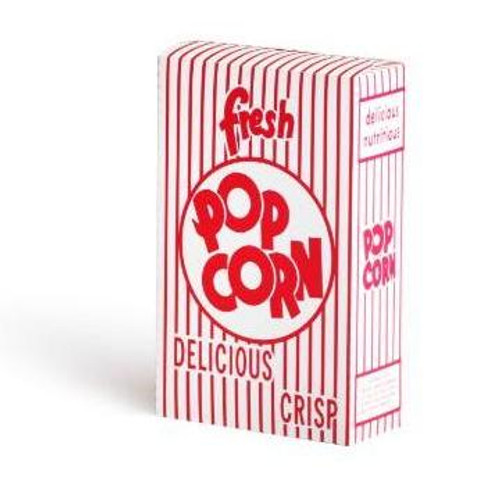 (100) .75 Ounce Movie Theater Popcorn Boxes