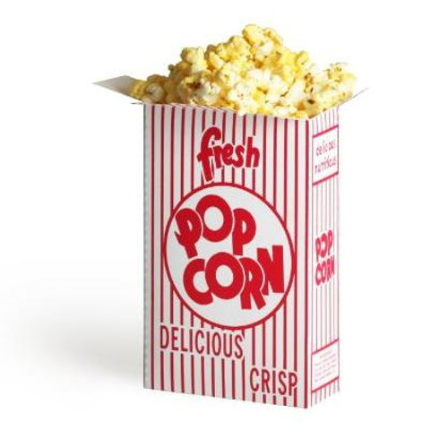 (50) 1.25 Ounce Movie Theater Popcorn Boxes