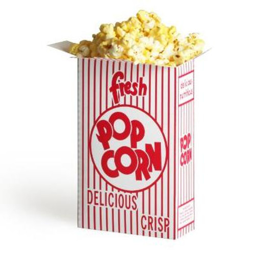 (100) 1.25 Ounce Movie Theater Popcorn Boxes