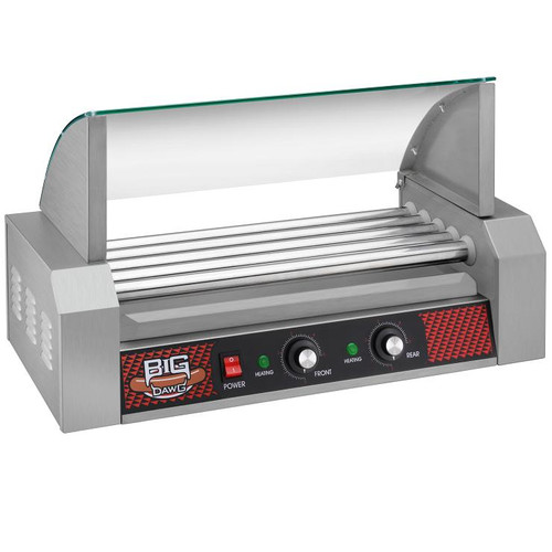 BIG DAWG Commercial Five Roller Hot Dog Machine With Cover