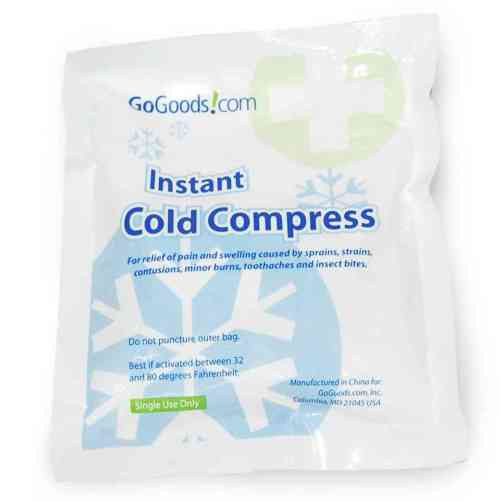 """Disposable Instant Cold Compress 5""""x6"""" (Sample Pack / 4) FREE SHIPPING"""