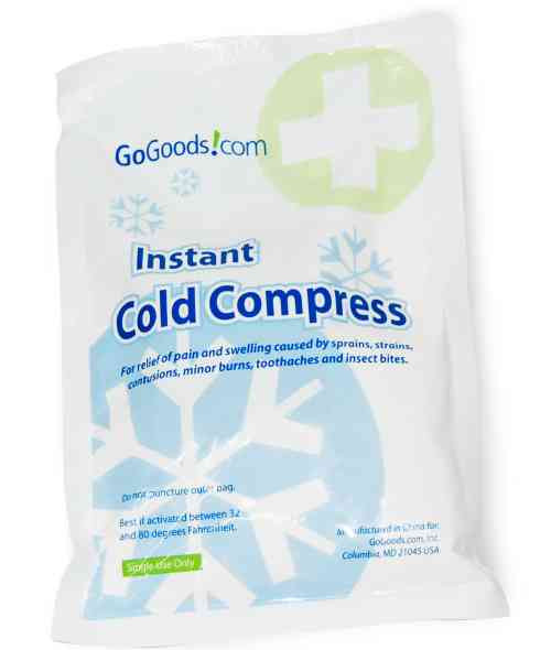 """Disposable Instant Cold Compress Pack 6""""x9"""" (Box of 12)"""