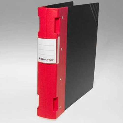 "Keba Ergo 2 1/4"" 3-Ring Black Binder: Red Spine"