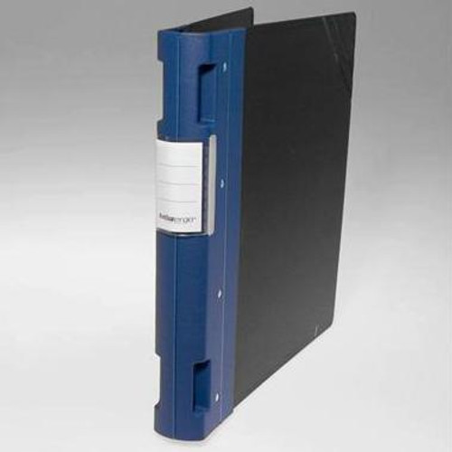 "Keba Ergo 1 1/2"" 3-Ring Black Binder: Blue Spine"