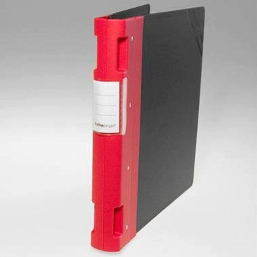 "Keba Ergo 1 1/2"" 3-Ring Black Binder: Red Spine"
