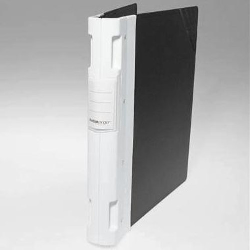 "Keba Ergo 1 1/2"" 3-Ring Black Binder: White Spine"