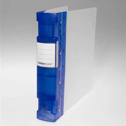 "Keba Frost 2 1/4"" 3-Ring Translucent White Binder: Blue Spine"