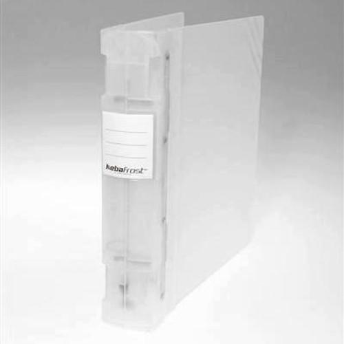 "Keba Frost 2 1/4"" 3-Ring Translucent White Binder: Clear Spine"
