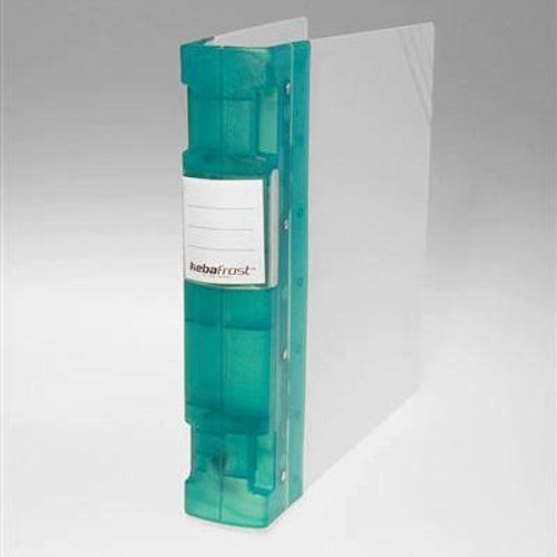 "Keba Frost 2 1/4"" 3-Ring Translucent White Binder: Green Spine"