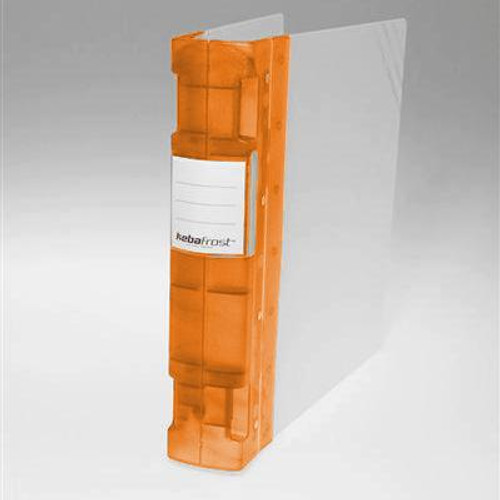 "Keba Frost 2 1/4"" 3-Ring Translucent White Binder: Orange Spine"