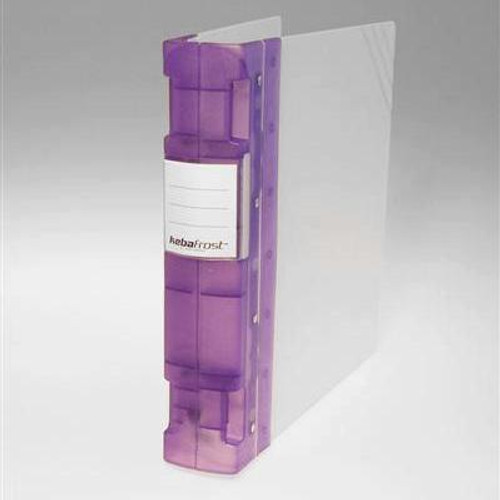 "Keba Frost 2 1/4"" 3-Ring Translucent White Binder: Lilac/Purple Spine"