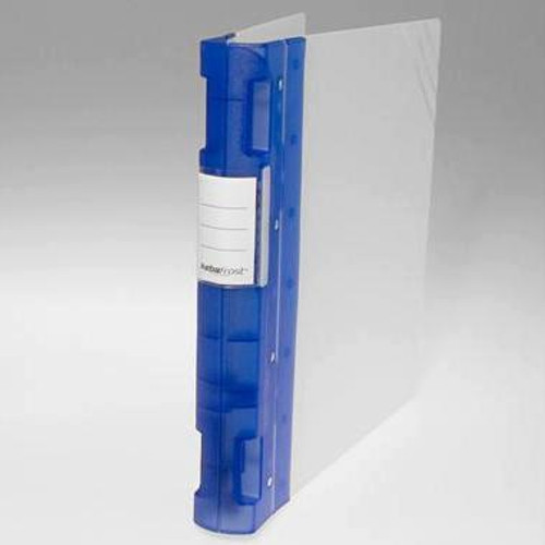 "Keba Frost 1 1/2"" 3-Ring Translucent White Binder: Blue Spine"