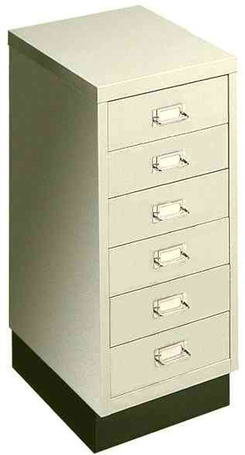 """Axcess 6-Drawer Under-Desk Cabinet with 3.5"""" Drawers - Off-White"""