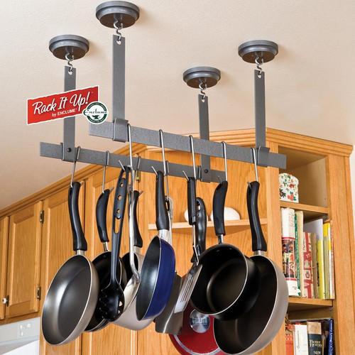 Rack It Up! Ceiling Bars Pot Rack by Enclume