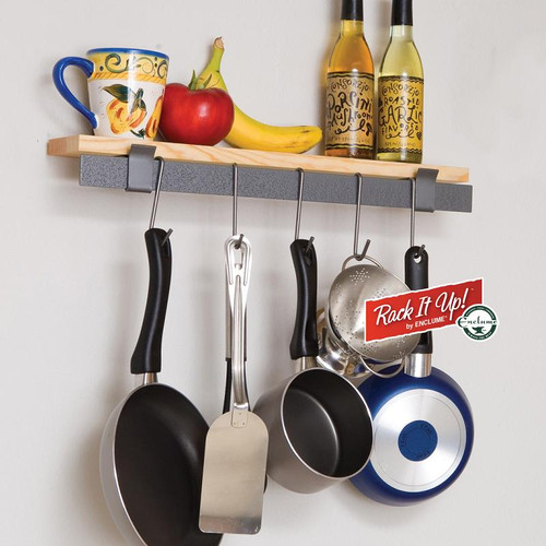 Rack It Up! Wall Bar & Bamboo Shelf by Enclume