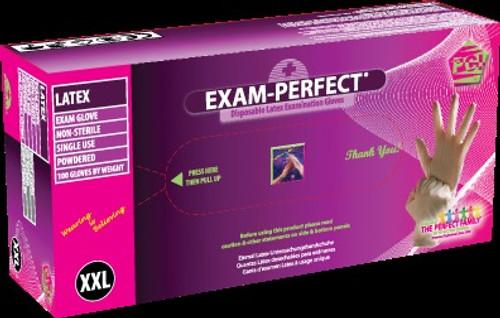 Exam Perfect, Gloves Lightly Powdered, Medium 100/bx