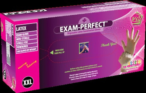 Exam Perfect, Gloves Lightly Powdered, X-Large 100/bx