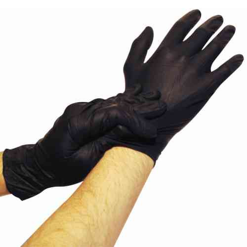 Black Nitrile Powder-Free Exam Gloves: 1,000 LARGE 2