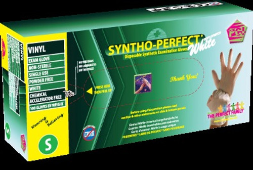 Syntho-Perfect - White, Gloves Powder-Free,  100/bx 3