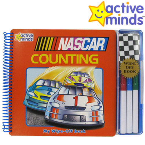 ACTIVE MINDS Nascar Counting Wipe-Off Book 0785390030
