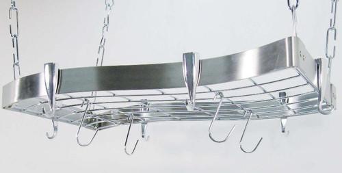 Wave Ceiling Rack - Stainless Steel