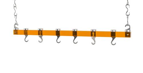 Concept Housewares 36-Inch Ceiling Pot Rack - Orange