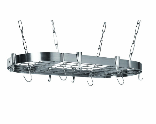 Professional Oval Ceiling Rack - Stainless Steel