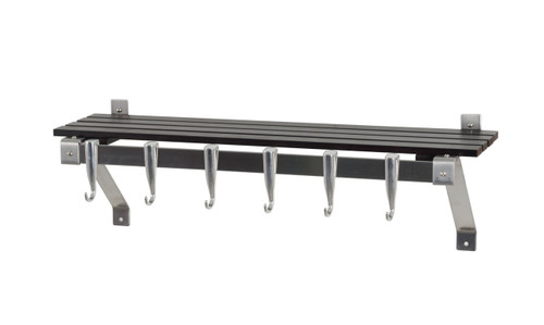 Concept Housewares Stainless Steel and Wood Wall Rack - Espresso