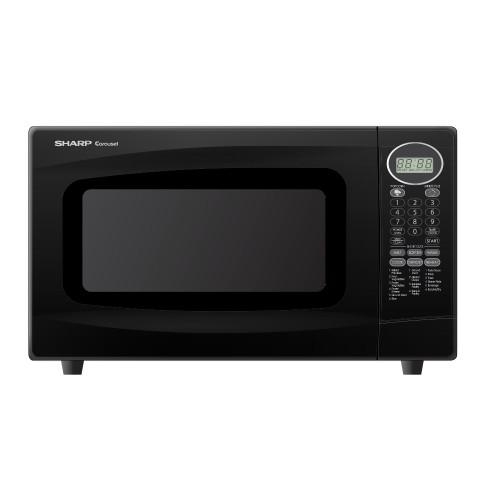 Sharp R-306LK Carousel 1.0 CF Microwave Oven, Black