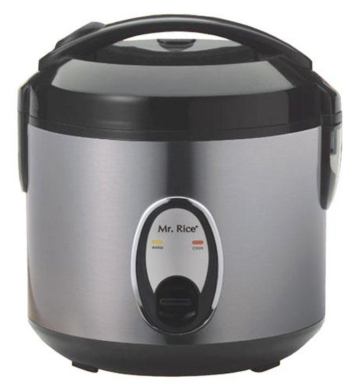 6-Cup Rice Cooker with Stainless Steel Body