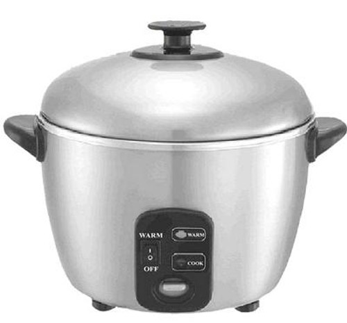 3-Cup Stainless Steel Rice Cooker and Steamer