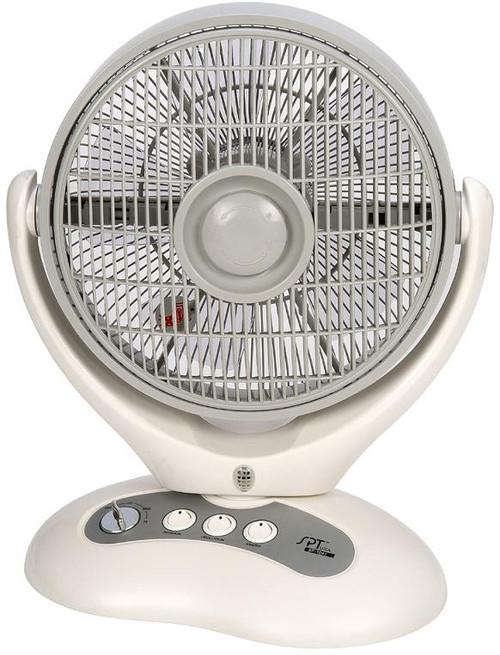 Oscillating box fan with Ionizer