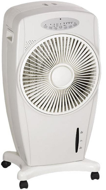 Evaporative Air Cooler with Rotating Louver